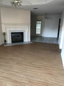 Living room looking into dining area